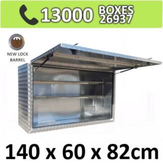 Aluminium Squared Ute Truck Trailer Camper Storage Box 1468SFD
