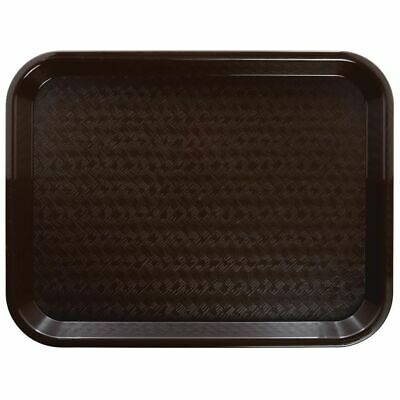 Brown Fast Food Tray - HUBERT Fast Food Tray Cafeteria Tray Brown Plastic - 16