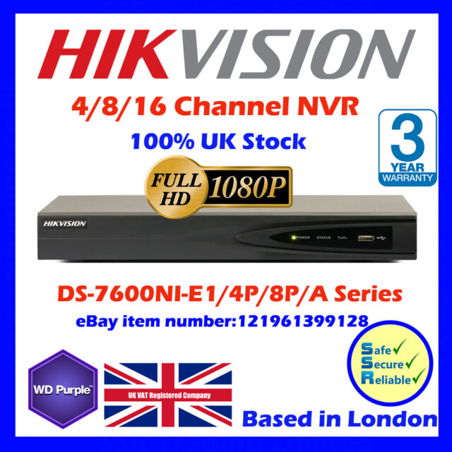 Hikvision IP NVR 4 CH / 8 CH  with POE DS-7604NI-E1/4P/A,DS-7608NI-E2/8P/A