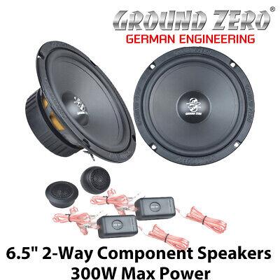 """Ground Zero GZIC 16X - 6.5"""" 2-Way Component Door Speakers 300W Max Power BNIB"""
