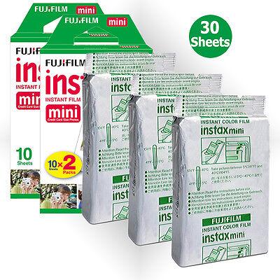 30PCS Fujifilm Fuji Instax Mini White Film For Instant 7s 8 9