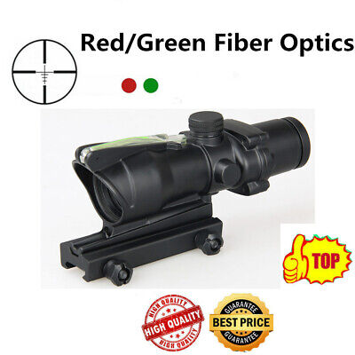 4x32 Tactical ACOG Real Red/Green Fiber Optic Illuminated Rifle Scope Parts