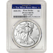 2020-(W) American Silver Eagle - PCGS MS70 - First Strike West Point Label