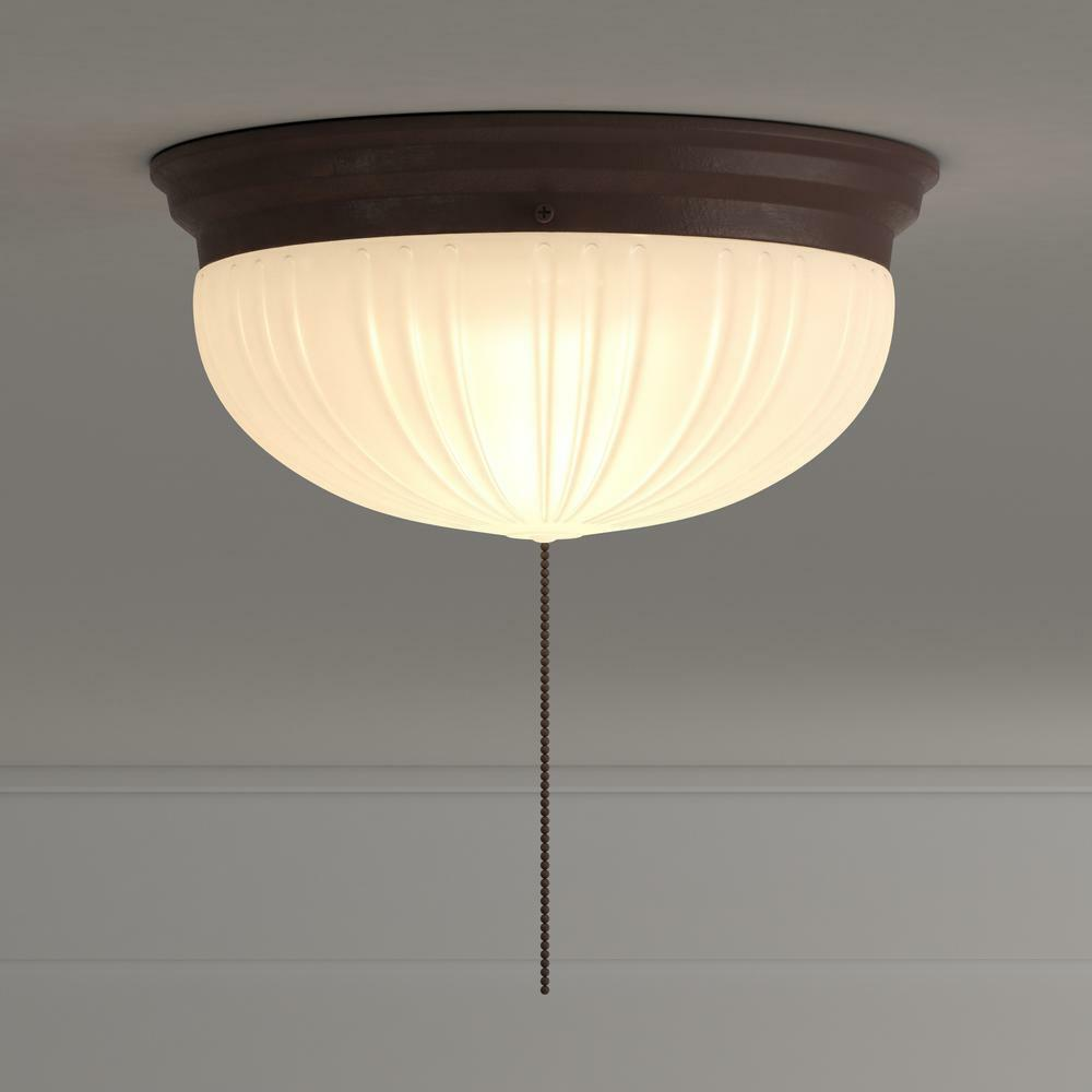 2-Light Flush Mount Ceiling Fixture Sienna Interior With Pul