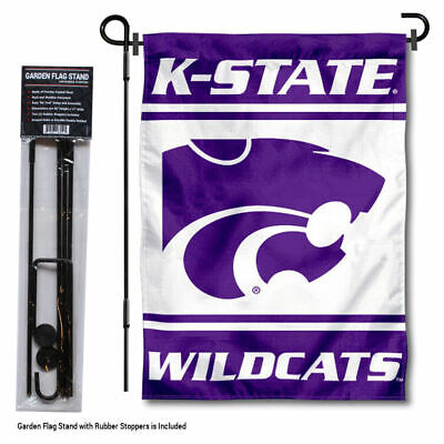 Kansas State Wildcats Garden Flag and Yard Stand Included