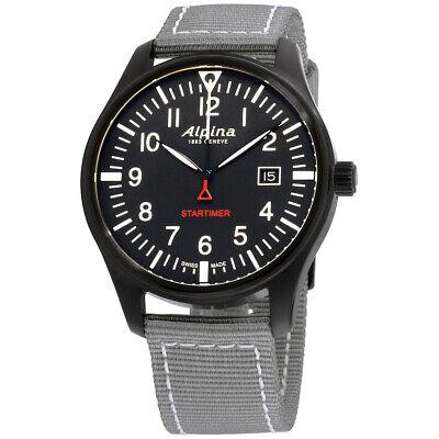 Alpina Startimer Pilot Quartz Movement Black Dial Men's Watch AL-240B4FBS6