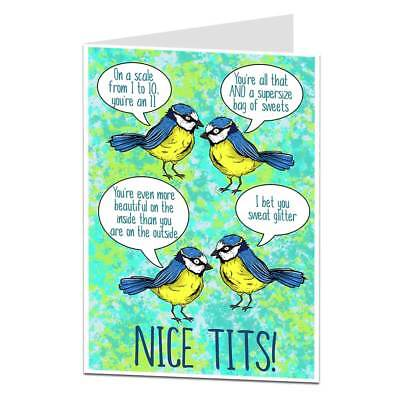 Funny Birthday Card For Women Rude Message Silly Quirky Design Wife Best