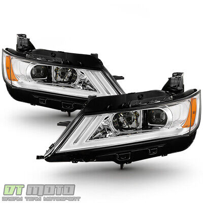 Owner 2014-2019 Chevy Impala LED DRL SWITCHBACK Chrome Projector Headlights Headlamps