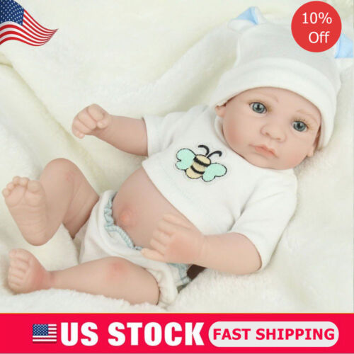 10'' Handmade Baby Dolls Lifelike Anatomically Correct Vinyl Silicone Boy Doll