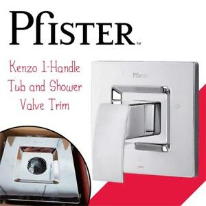 Used Pfister R89-1DFC Kenzo 1-Handle Tub and Shower Valve Trim, Chrome Condition: Lightly Used