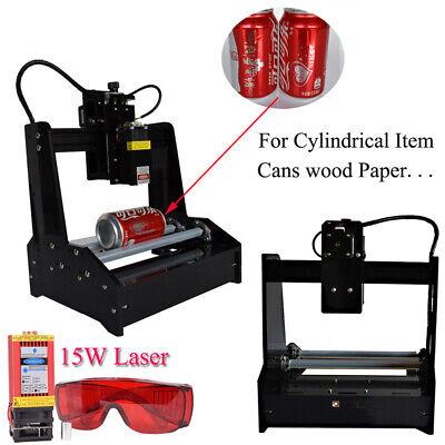 Used, Cylindrical Laser Engraving Machine &15W Laser Module Metal Engraver DIY Printer for sale  Shipping to Nigeria