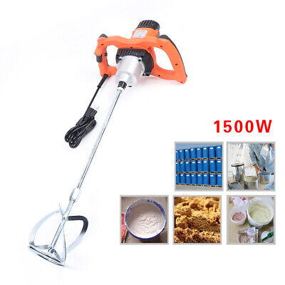 1500w Electric Mortar Cement Mud Mixer Stirring Rod 6-speed Paint Cement Grout