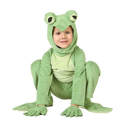 Kids Prince Little Frog Cosplay Costume Animal Jumpsuit Halloween Fancy Dress (Frog Prince Costume)