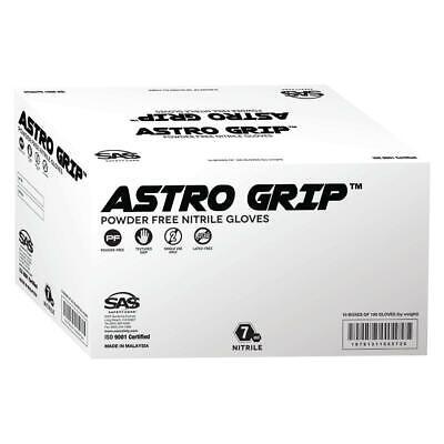 1 Case(1000 gloves) SAS Safety Astro Grip Gloves-Orange Nitrile-SIZE XL-10 BOXES