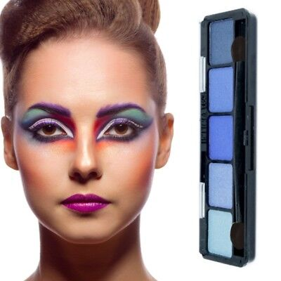 Lidschatten Palette 5 Farben-Make Up-Eyeshadow-Highlighter -Kosmetik Blau - Blau Make Up