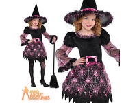 Stunning NEW Girls Darling Witch Halloween Costume Fancy Dress Age 4-6 Yrs Old RRP £24.99