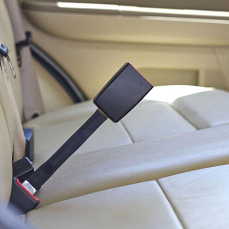 2 X Asiento Seguridad hebilla de cinturón Adaptador Extensor Alarma Beep tapón de cancelación de Negro
