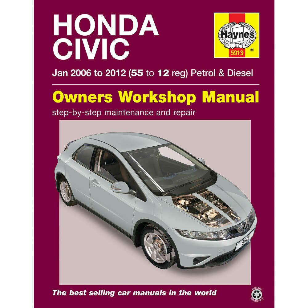 Haynes Manual Honda Civic 2006-12 1.4 1.8 2.2 Petrol & Diesel