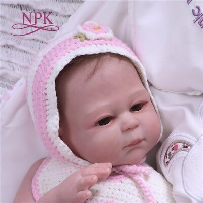 20'' Full Body Vinyl Silicone Reborn Girl Baby Dolls Newborn Touch Real Bath Toy