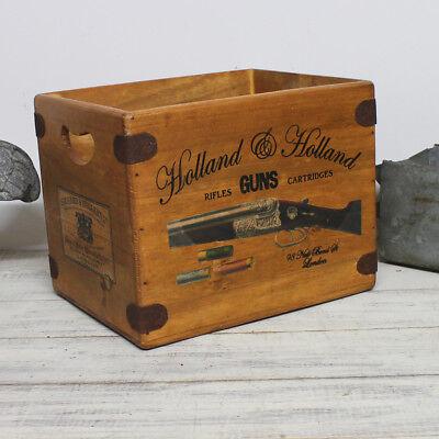 Holland & Holland Box Large Vintage Wooden Hamper Crate Shooting