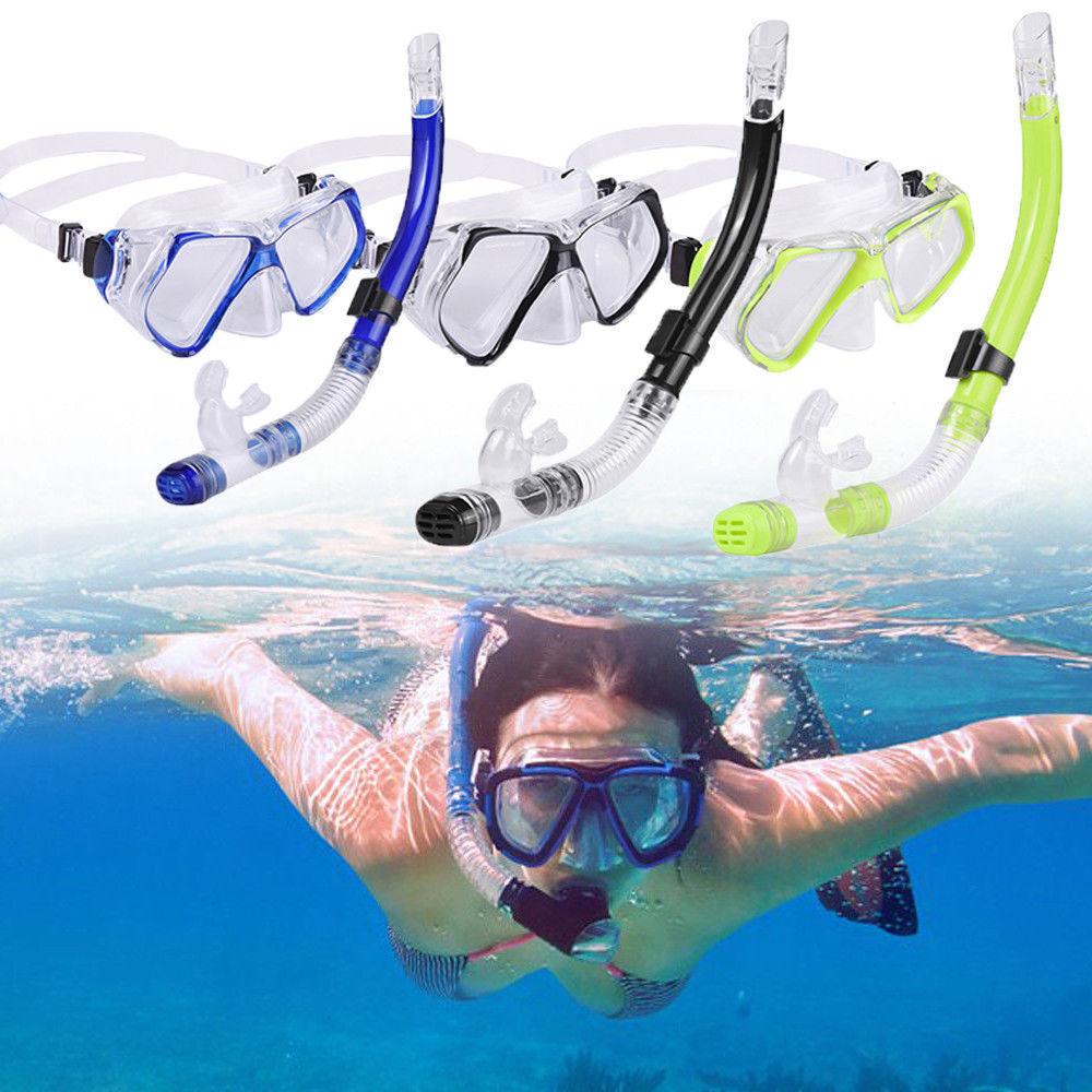 Neu Schnorchelset Tauchmaske Taucherbrille + Schnorchel für Erwachsene Maske B1