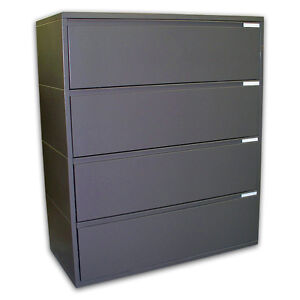 "Herman Miller 42"" Meridian 4-Drawer Lateral Files File Filing Cabinet"