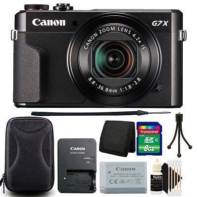 Canon PowerShot G7 X Mark II 20.1MP Digital Camera with 8GB Accessory Bundle