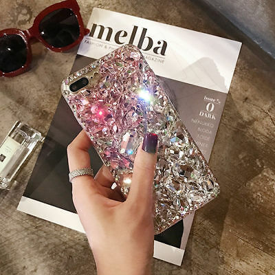 (Luxury Bling 3D Crystal Diamond Rhinestone Jewelled Case Cover For iPhone XS Max)
