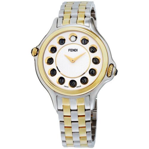 Fendi Crazy Carats Quartz Movement White Dial Ladies Watch F107134000T06