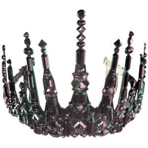 Adults Sea Siren Crown Halloween Tiara Evil Fancy Dress Princess Black Amscan