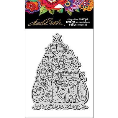 New Stampendous RUBBER STAMP cling LAUREL BURCH FESTIVE FELI