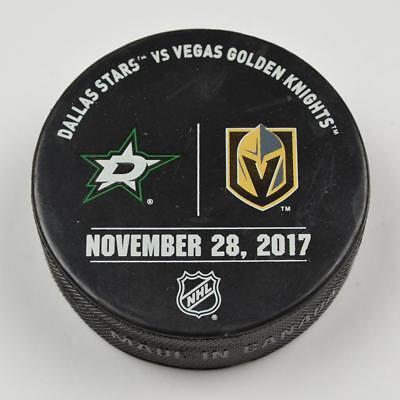 Vegas Golden Knights Warm Up Puck Used 11/28/17 VGK Vs Dallas Stars Game
