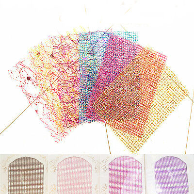 3D Mesh Net Line Lace Nail Art Stickers DIY Manicure Decals Decor Women Supplies for sale  China