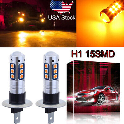 H1 3030 15SMD LED Fog Light Conversion Kit Super Bright Premium 3000K Yellow