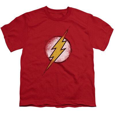 The Flash Logo Vintage Style DC Comics Superhero Big Boys T-