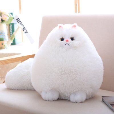 Winsterch Stuffed Cats Plush Animal Toys Animal Baby Doll,White Cat Plush,11.8'' (Plush Cat)