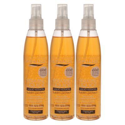 Haar-pflege-set (BYPHASSE Activ Protect Keratin Spray für trockenes Haar 3 x 250 ml Set)