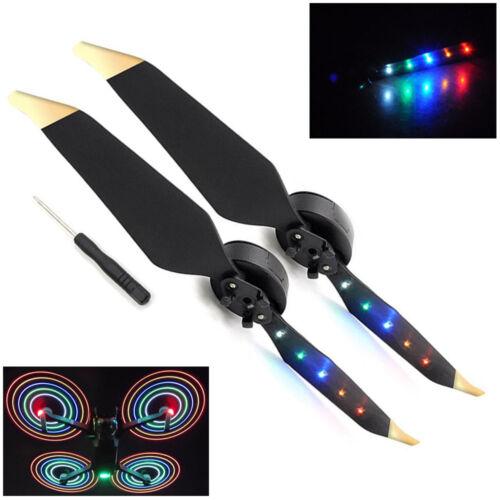 1Pair LED Flash Light Propeller for DJI Mavic Pro Platinum Player DIY Gift