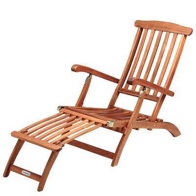 Sonnenliege Gartenliege Liegestuhl Deckchair Gartenmöbel Holzliege Liege Holz