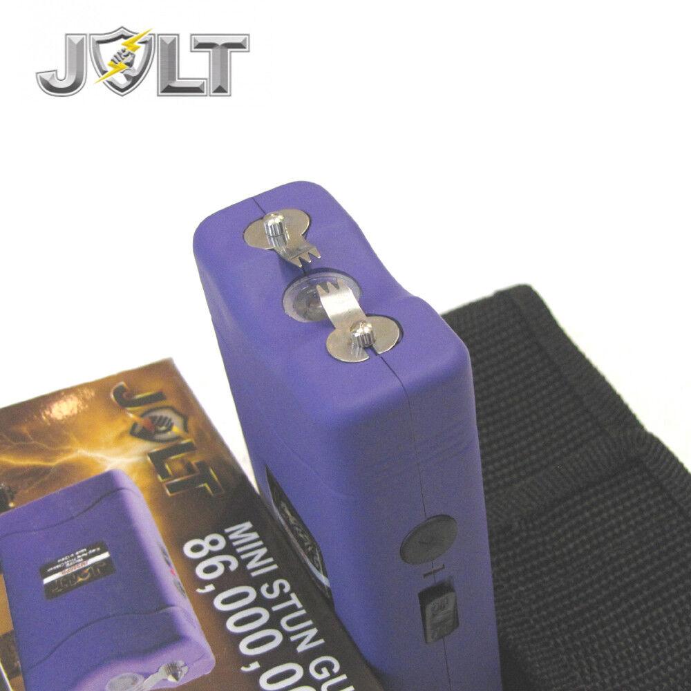 Jolt Mini 86,000,000 Stun Gun Police Magnum PEPPER SPRAY Combo Set - PURPLE - $18.87