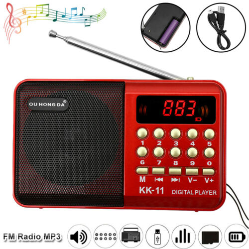 LED Flashlight Rechargeable Battery Operated Pocket Size J-189 Small Portable Radio AM FM Bluetooth Radio by PRUNUS Black TF Card USB AUX MP3 Player Dual Speaker Heavy Bass