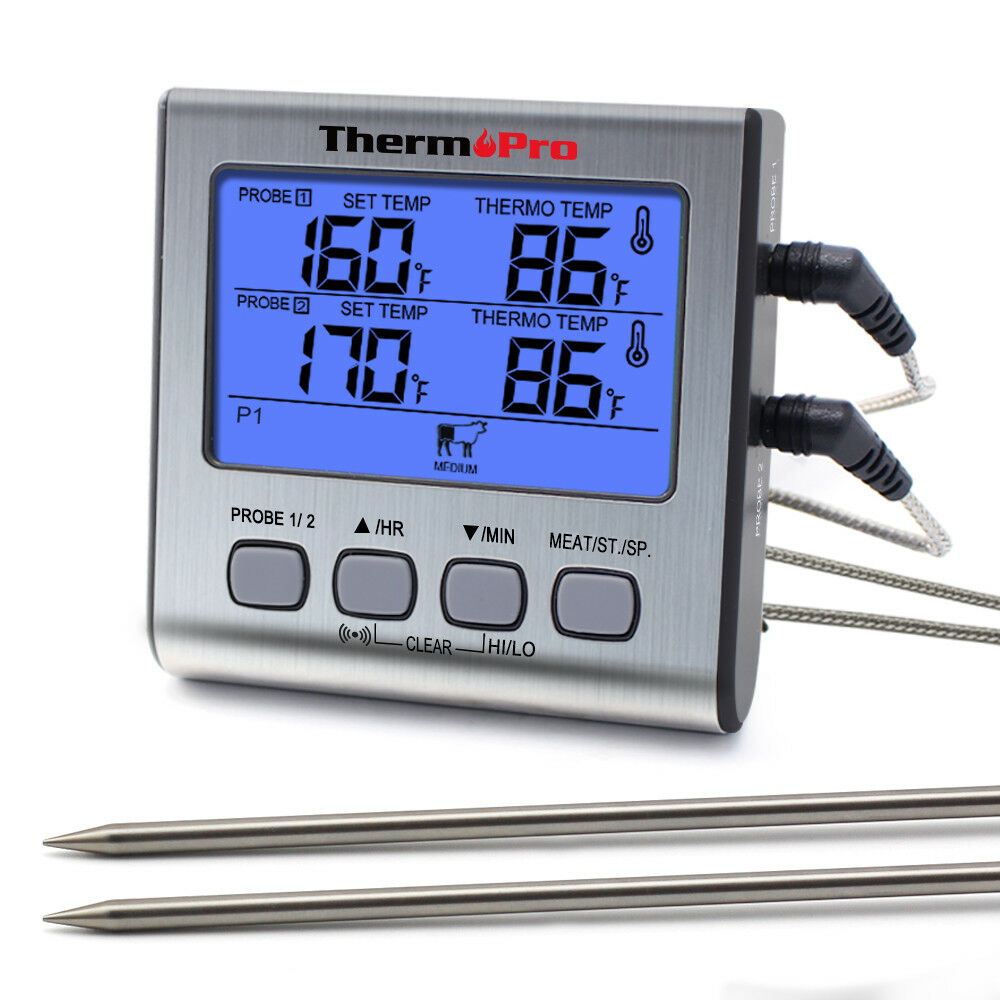digital meat cooking thermometer grill smoker bbq