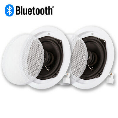 Acoustic Audio R191 Bluetooth In Ceiling Flush Mount Powered Speaker Pair (Flush Mount Speaker)