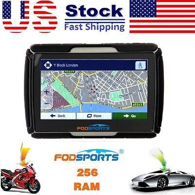 4 3  Inch Car Gps Motorcycle Touch Screen 8Gb Waterproof Navigation Sat Nav Map