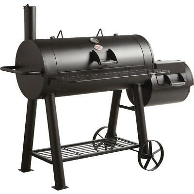 Char-Griller Competition Horizontal Offset Charcoal Wood Smoker BBQ Barrel Grill Freestanding Wood Grill