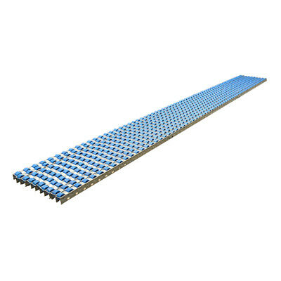 10 8.46 Anodized Steel Conveyor Belt Roller Carton Gravity Flow Shelf Track
