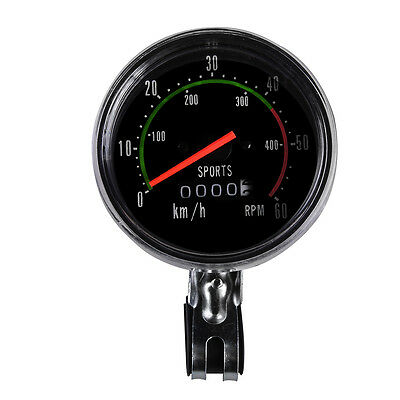 New Analog Speedometer Resettable Odometer Classic Style for Exercycle & Bike