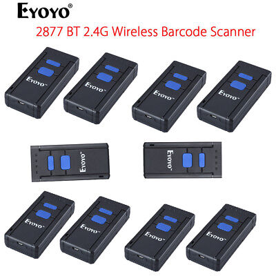 10pcs Mj2877 Mini Portable Wireless Bluetooth Barcode Scanner For Ios Android Us