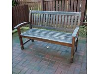 Heavy Duty Hardwood Garden Bench Seat Including Covers