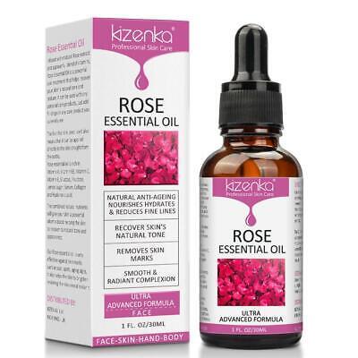 Kizenka Natural Anti-Ageing Rose Essential Scars Spots Facial Treatment Oil 30ml